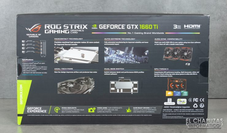 Asus ROG Strix GeForce GTX 1660 Ti - Embalaje 2