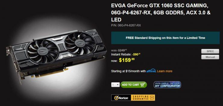 GeForce GTX 1060 6GB SSC Gaming