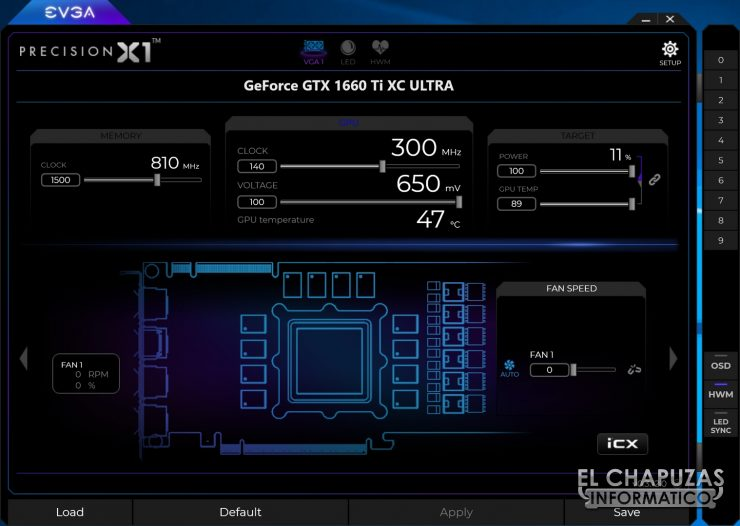 EVGA GeForce GTX 1660 Ti XC Ultra Precision X1