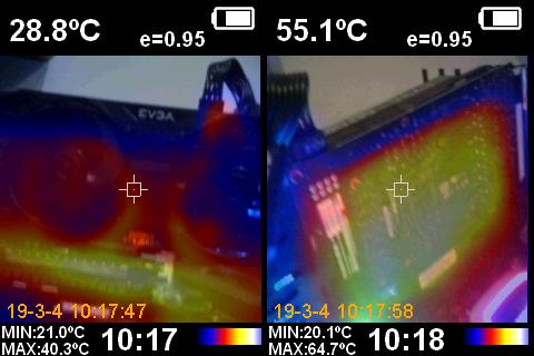 EVGA GeForce GTX 1660 Ti XC Ultra Cámara Térmica