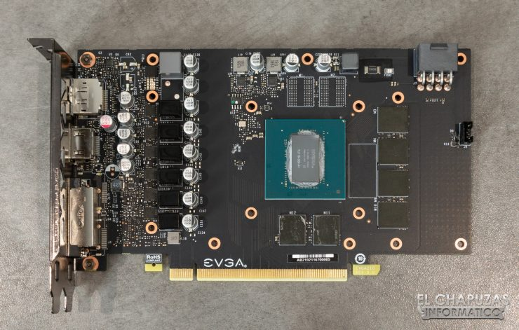EVGA GeForce GTX 1660 XC Ultra - PCB Frontal