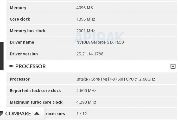 GeForce GTX 1650 3DMark