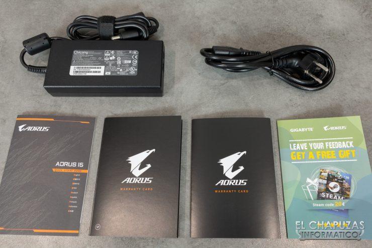 Gigabyte Aorus 15-X9 Accesorios