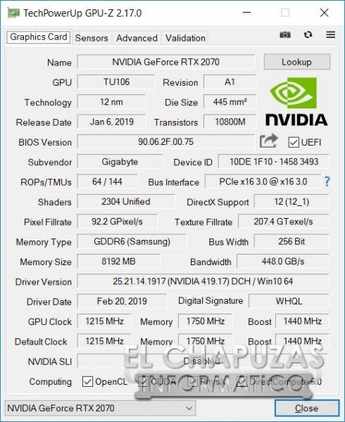 Gigabyte Aorus 15-X9 GPU-Z