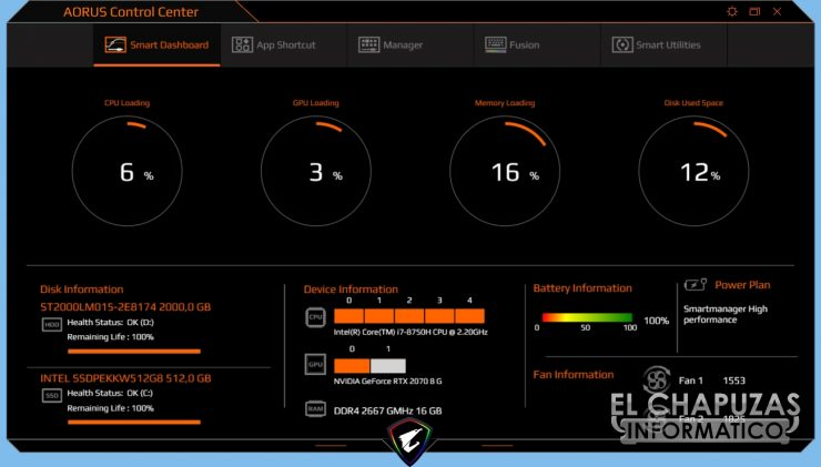 Gigabyte Aorus 15-X9 Software Control Center 1