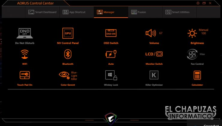 Gigabyte Aorus 15-X9 Software Control Center 2
