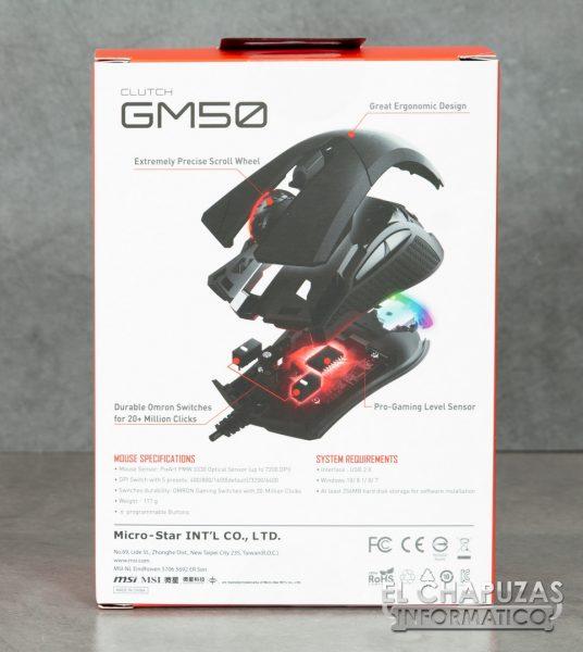 MSI Clutch GM50 Embalaje 2