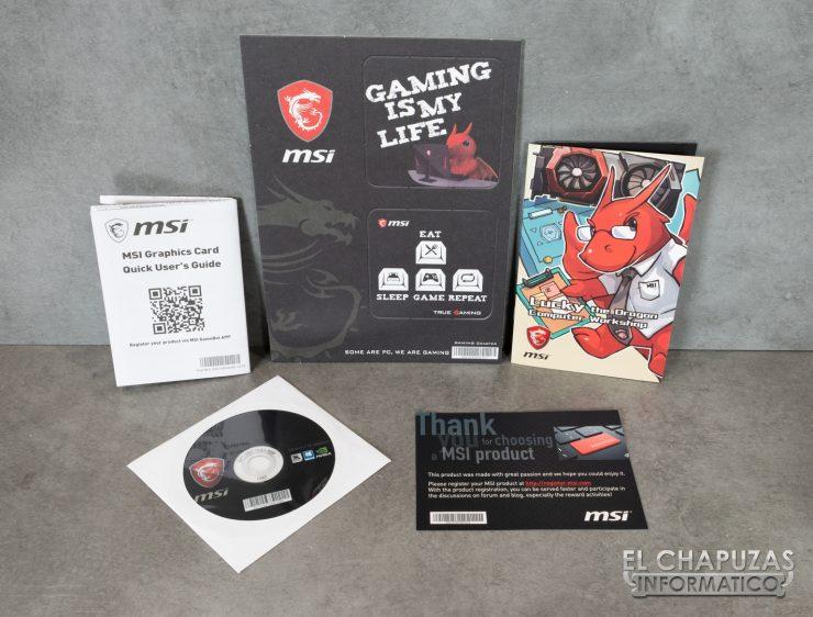 MSI GeForce GTX 1660 Gaming X - Accesorios