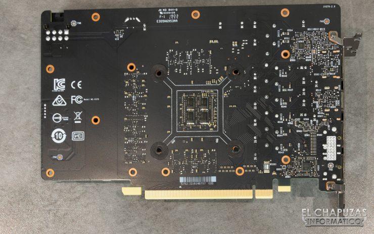 MSI GeForce GTX 1660 Gaming X - PCB Trasero