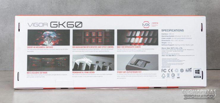 MSI Vigor GK60 Embalaje 2