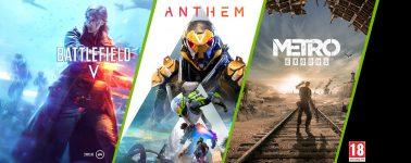 Llévate gratis Battlefield V, Anthem y Metro Exodus comprando una GeForce RTX 2080 / RTX 2080 Ti