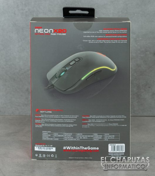 Ozone Neon X20 - Embalaje 2