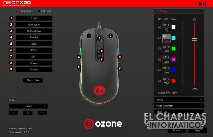 Ozone Neon X20 - Software 1