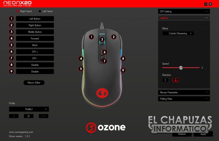Ozone Neon X20 - Software 2