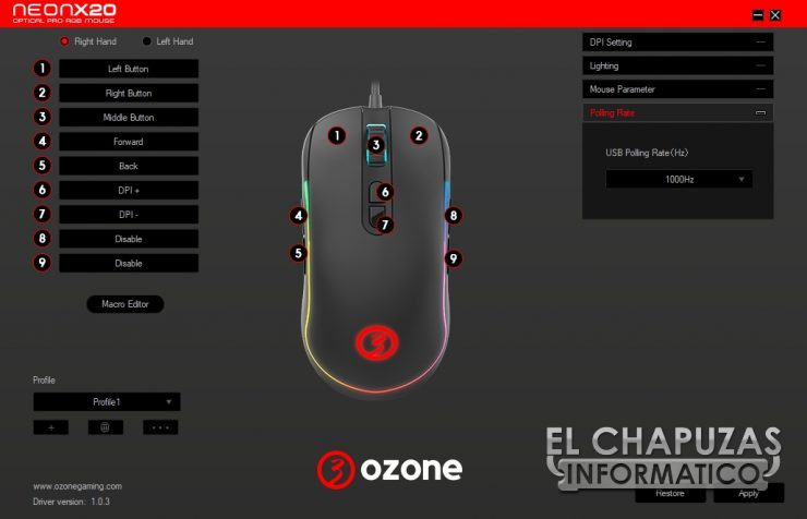 Ozone Neon X20 - Software 3