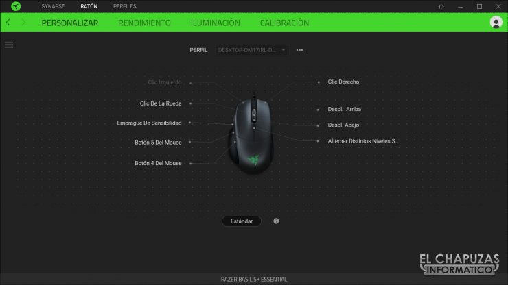 Razer Basilisk Essential - Software 1