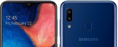 Samsung Galaxy A20: 6.4″ AMOLED, Exynos 7884 y 4000 mAh por 190 euros