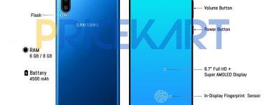 El Samsung Galaxy A60 sucumbe a las filtraciones: 6.7″ AMOLED y 4500 mAh