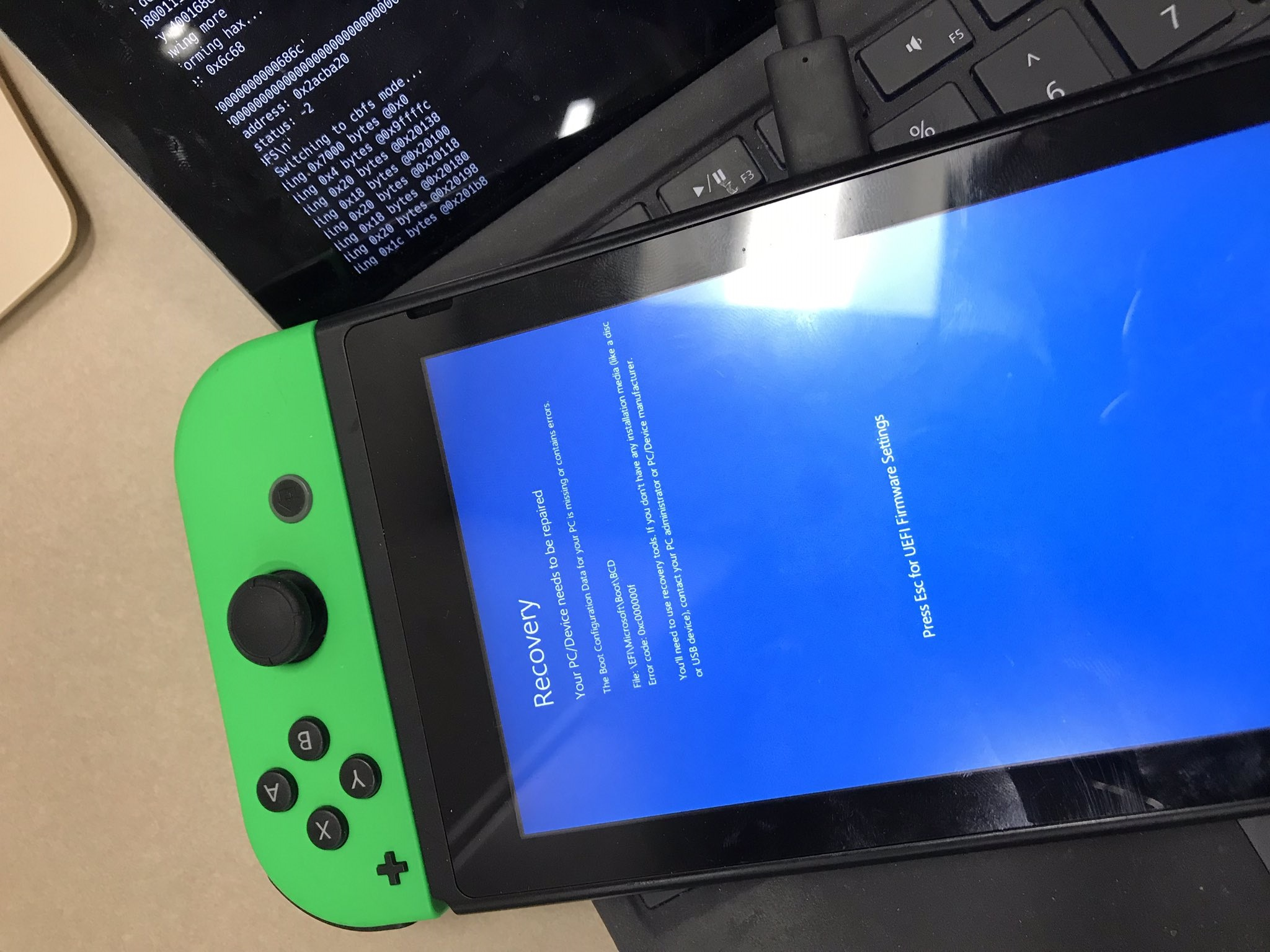 Windows 10 en la Nintendo Switch podría ser una realidad en breve