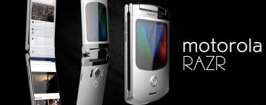 Se filtra el diseño de patente del Motorola Razr con pantalla plegable