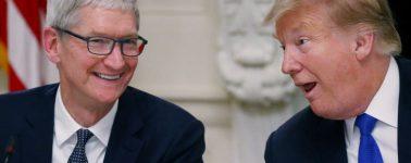Tim Cook se suma a la broma de 'Tim Apple' propiciada por un comentario de Donald Trump