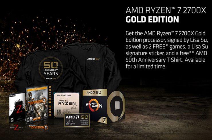 AMD Ryzen 7 2700X Gold Edition