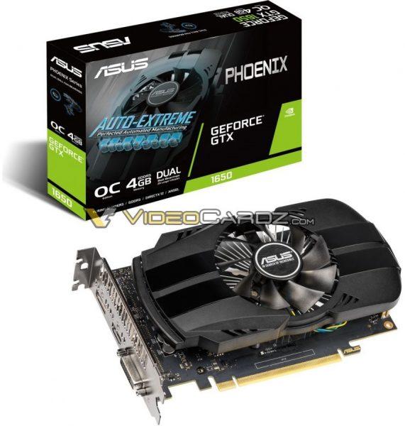 Asus GeForce GTX 1650 Phoenix OC 571x600 2
