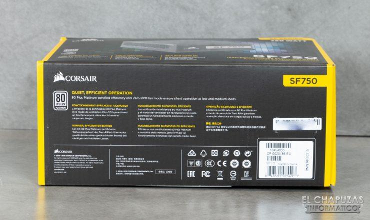 Corsair SF750 - Embalaje 5