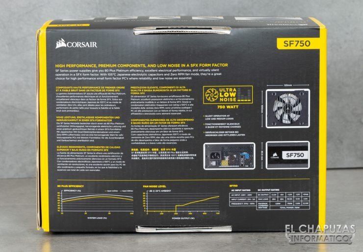 Corsair SF750 - Embalaje 6