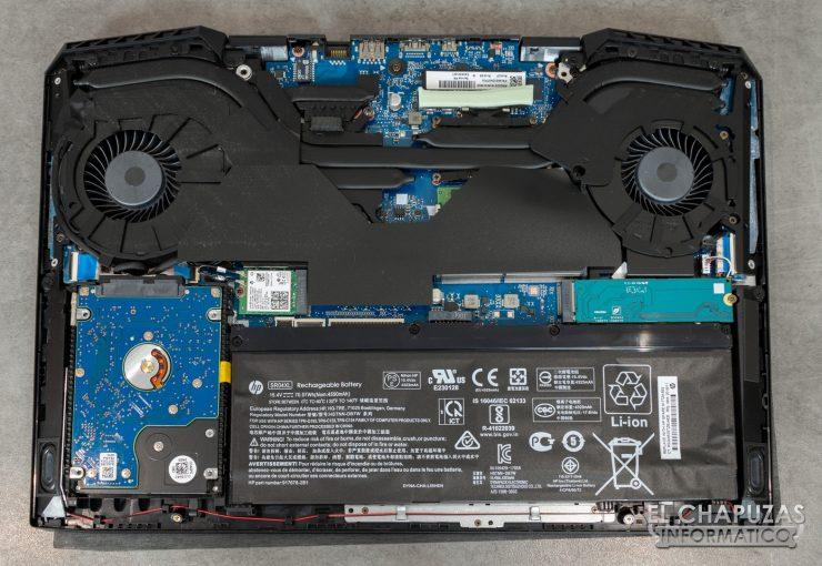HP Omen 15-DC1000NS - Interior