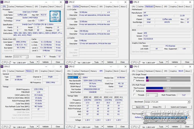 HP Omen 15-DC1000NS - CPU-Z