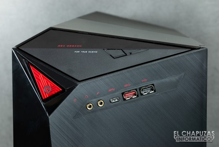 MSI Infinite X 9th - Conectores Frontales