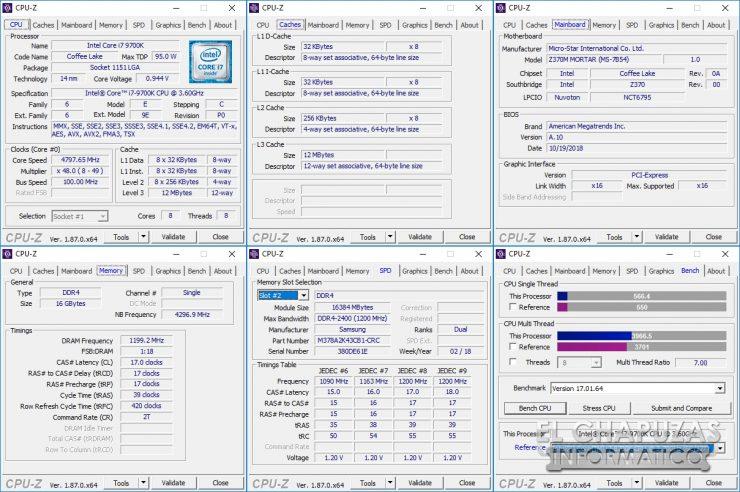 MSI Infinite X 9th - CPU-Z