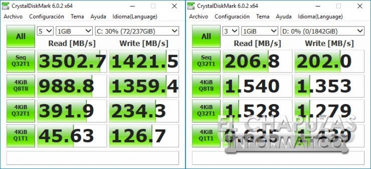 MSI Infinite X 9th - CrystalDiskMark