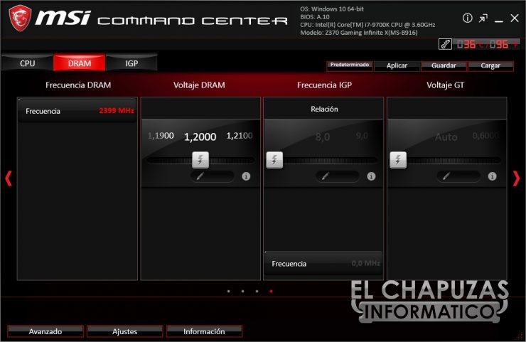 MSI Infinite X 9th - Software 2