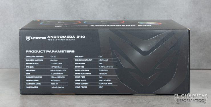 Nfortec Andromeda 240 - Embalaje 2