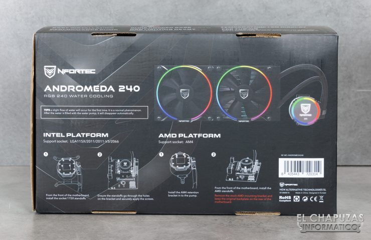 Nfortec Andromeda 240 - Embalaje 3