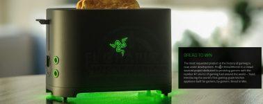 Razer lanzará finalmente su tostadora gaming con iluminación LED