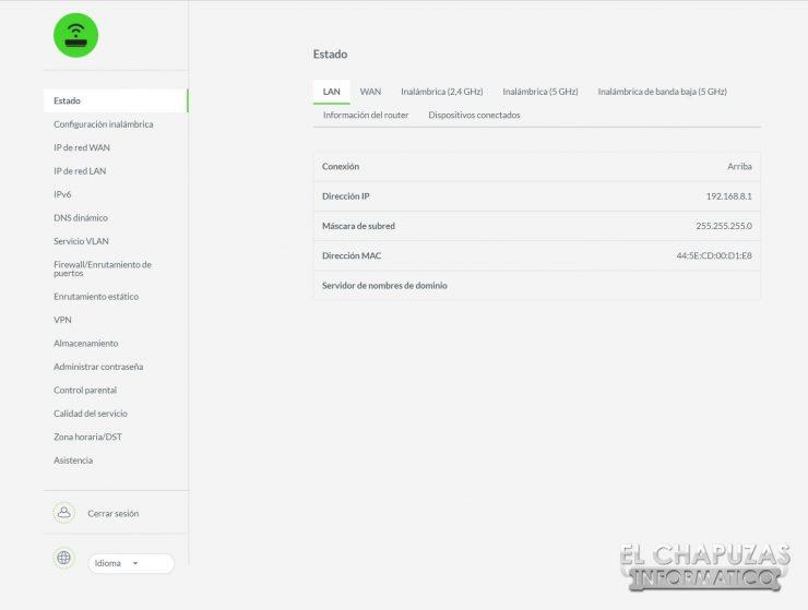 Razer Sila - Interfaz 1