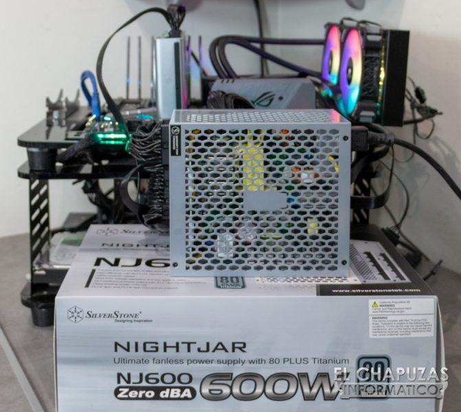 SilverStone Nightjar NJ600 - Equipo de Pruebas