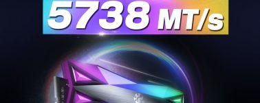 ADATA reclama nuevamente el récord de OC con sus XPG Spectrix D60G RGB @ 5738 MHz