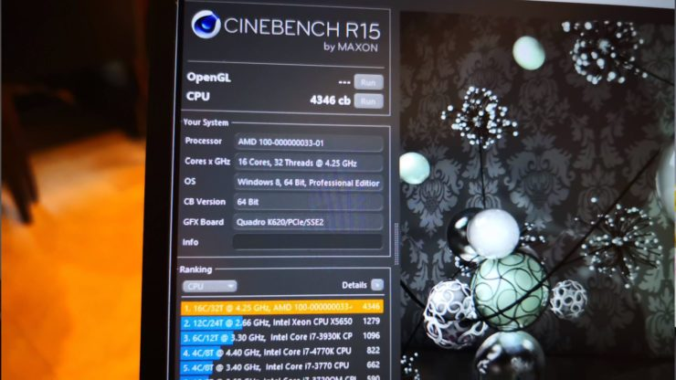 AMD Ryzen 9 16 núcleos Cinebench R15