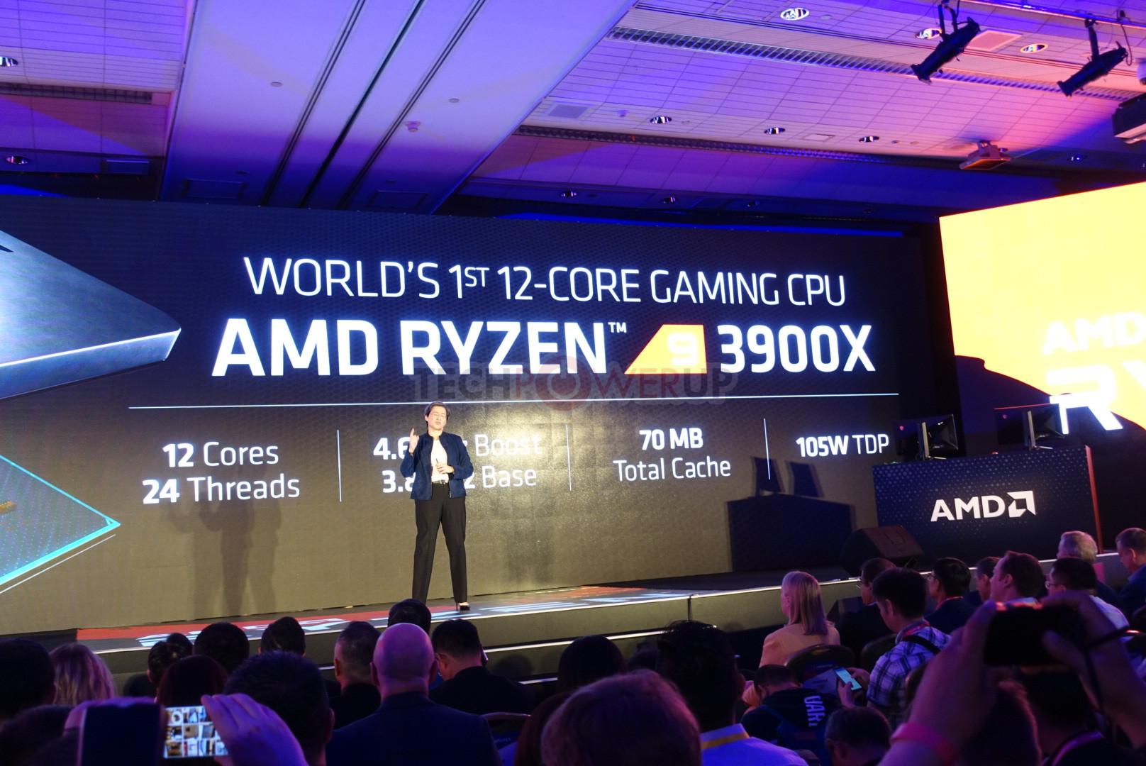 AMD anuncia los nuevos Ryzen 7 3700X/3800X y Ryzen 9 3900X