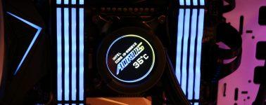 Gigabyte Aorus Liquid Cooler 240: Líquida con iluminación ARGB y pantalla LCD circular en la bomba de agua