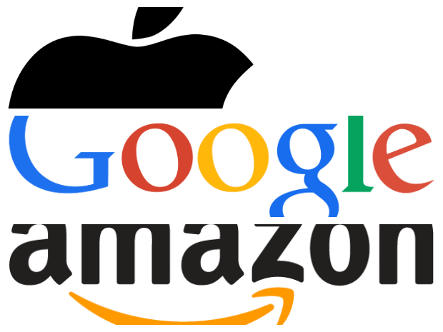 Apple, Amazon, Google