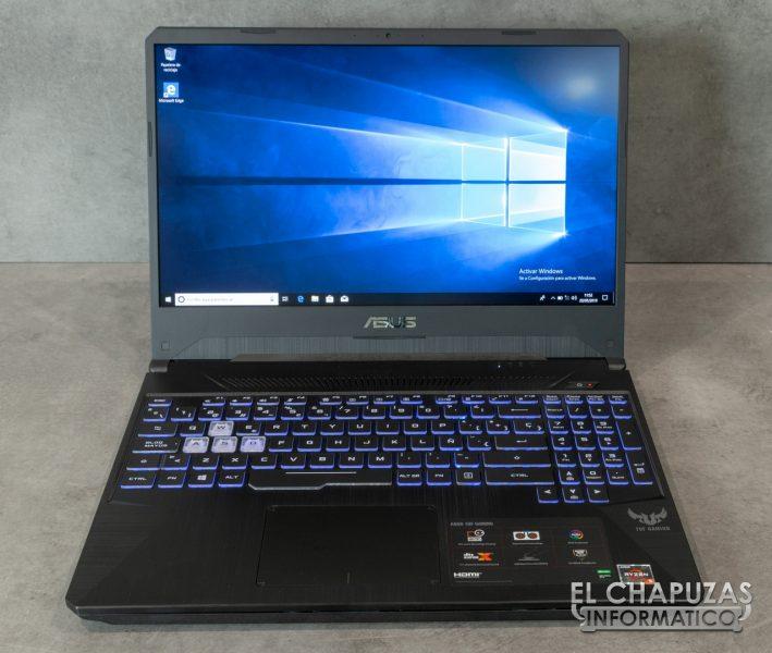 Asus TUF Gaming FX505D - Abierto y Encendido