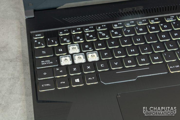 Asus TUF Gaming FX505D - Teclado WASD