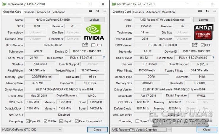 Asus TUF Gaming FX505D - GPU-Z