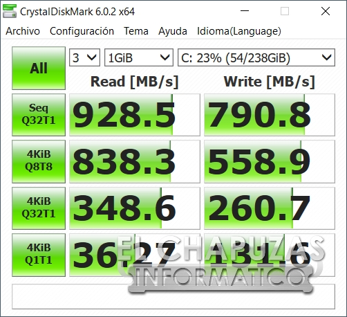 Asus TUF Gaming FX505D - CrystalDiskMark