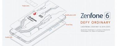 El Asus ZenFone 6 llegará con el SoC Snapdragon 855, 5000 mAh y cámara de 48+13 MPX
